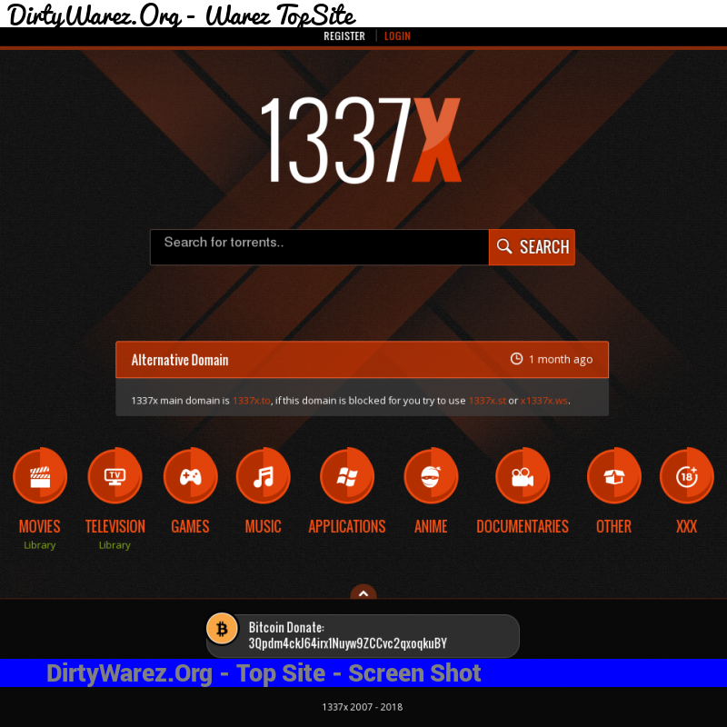 1337x.to Screenshot