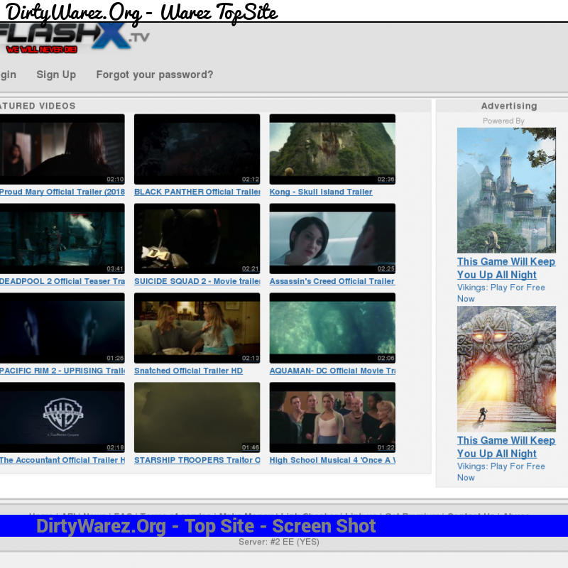 flashx.tv Screenshot