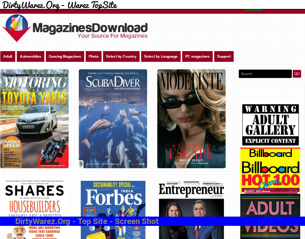 magazinesdownload.org Screenshot