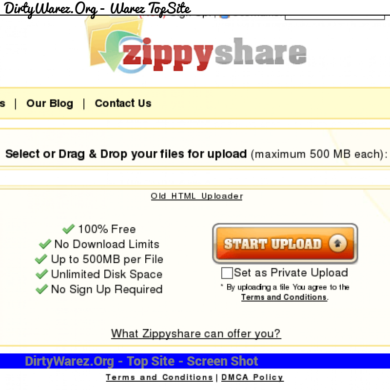 zippyshare.com Screenshot